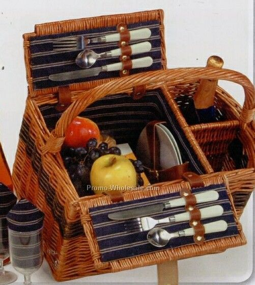 Picnic Plus Lenox 2 Person Handmade Picnic Basket
