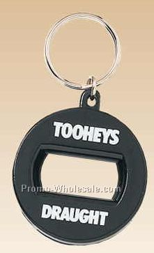Round Bottle Opener With Key Ring