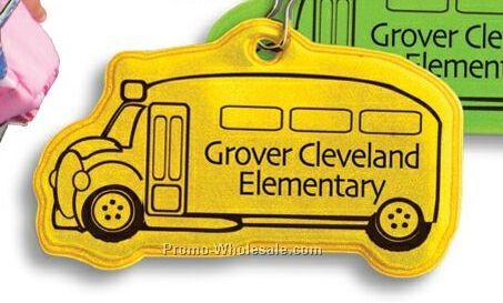 School Bus Reflective Zipper Pull