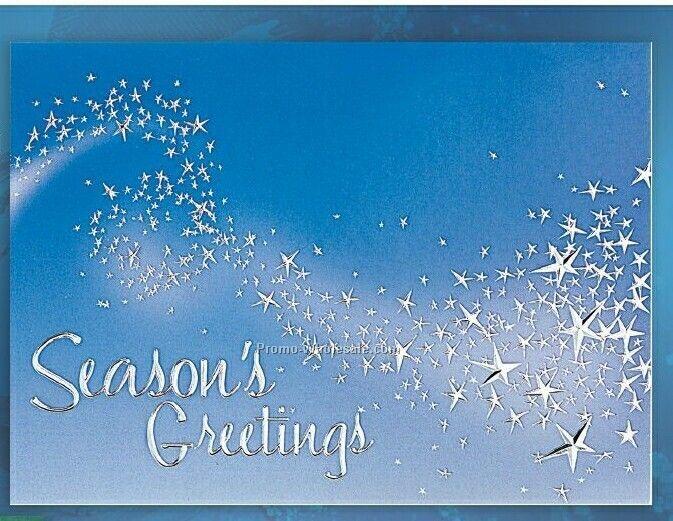 seasons greetings star trail holiday greeting card 62 101 - Seasons Greetings Cards