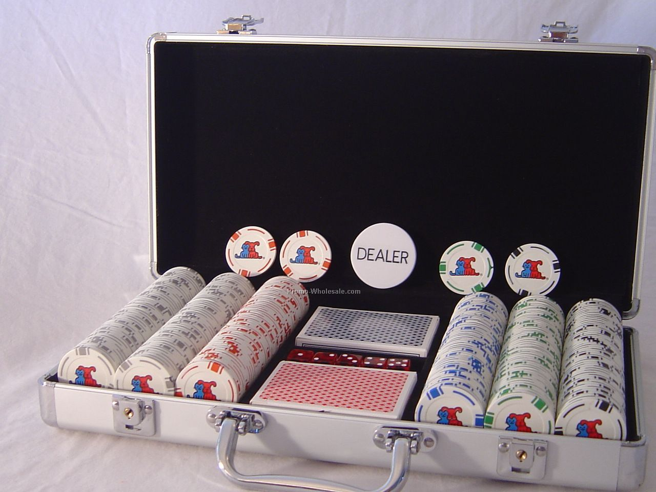 Silver Aluminum 300 Chip Set (3-color)