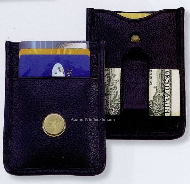 Soft Nappa Leather Money Clip/ Card Holder