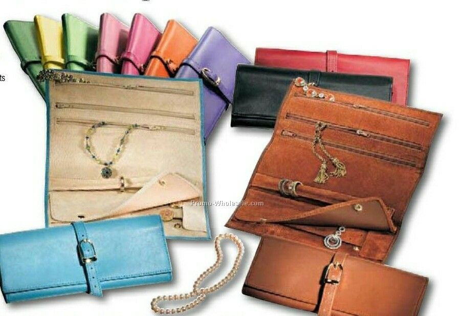 Synthetic Leather Jewelry Roll Case