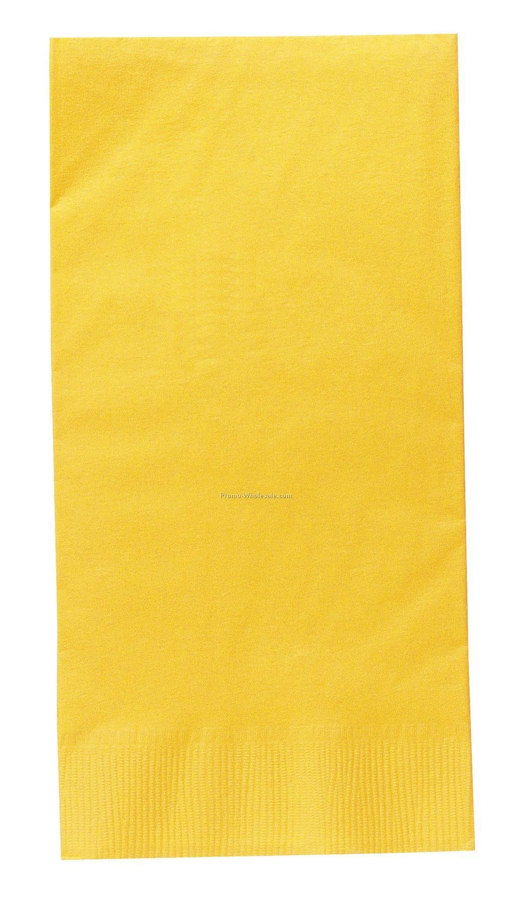 The 500 Line Colorware Mimosa Yellow Dinner Napkins W/ 1/8 Fold
