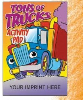 Tons Of Trucks Activity Pad
