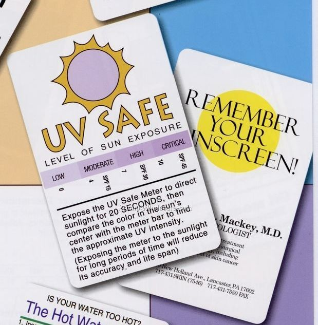 "UV Safe Indicating Card (2-1/8""x3-3/8""x0.02 Mil)"