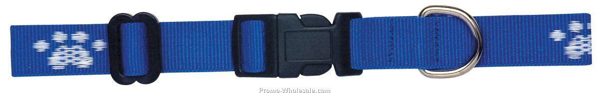 "Wov-in Line Pet Collar 1/2"" - Classic Webbing"