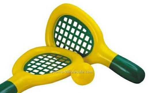"25"" Inflatable Tennis Racket & 5"" Inflatable Vinyl Ball"