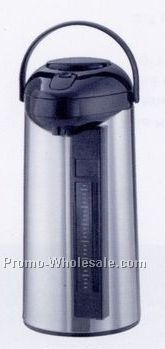 3 Liter Stainless Lined Sight Glass Airpot With Pump Lid