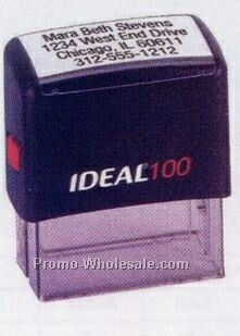 "3""x1-1/2"" Jumbo Ideal 30 Custom Self Inking Stamp"