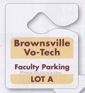 "3""x3-1/2"" 10 Pt. Plastic Hanging Parking Permit - Numbered"