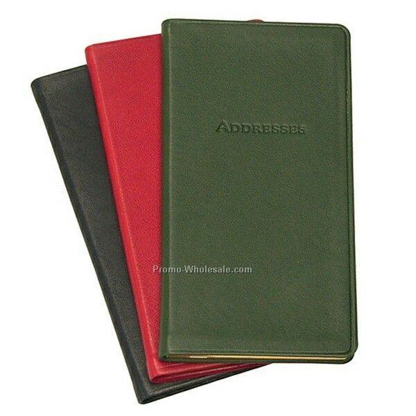 "3""x6"" Pocket Address Book W/ Bonded Or Synthetic Leather Cover"