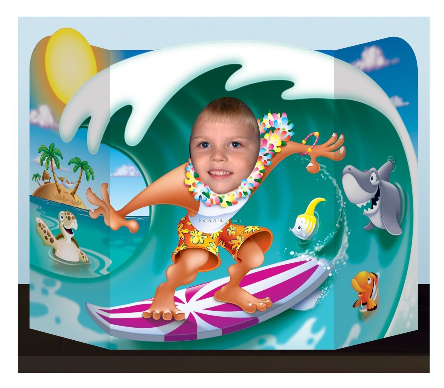 "37""x25"" Surfer Dude Photo Prop"