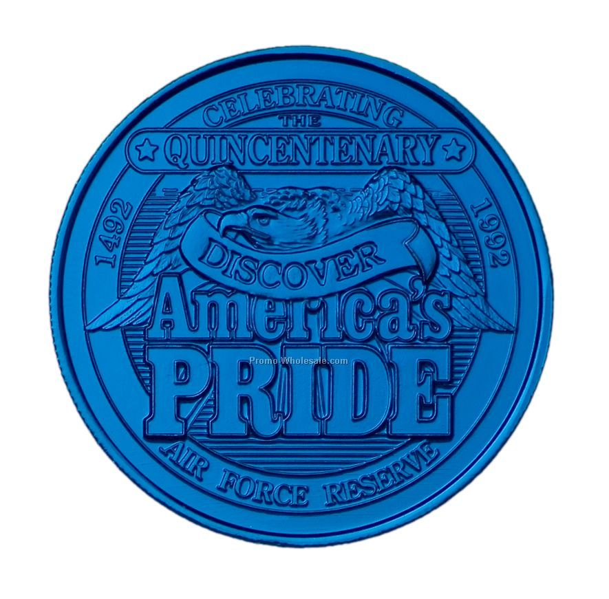 39mm Anodized Aluminum Coin / Medallion (12 Gauge)