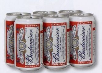 "4""x6"" Die-cut Post Cards - Budweiser 6 Pack"