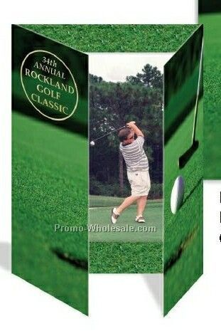 "4""x6"" Vertical Golf Gatefold Event Folder"
