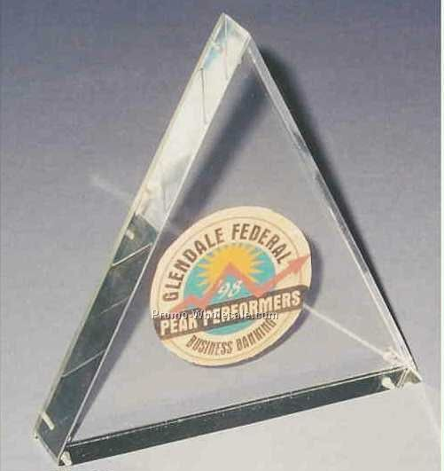 "5""x5""x7/8"" Triangle Desktop Sandwichment 2 Part Embedment"
