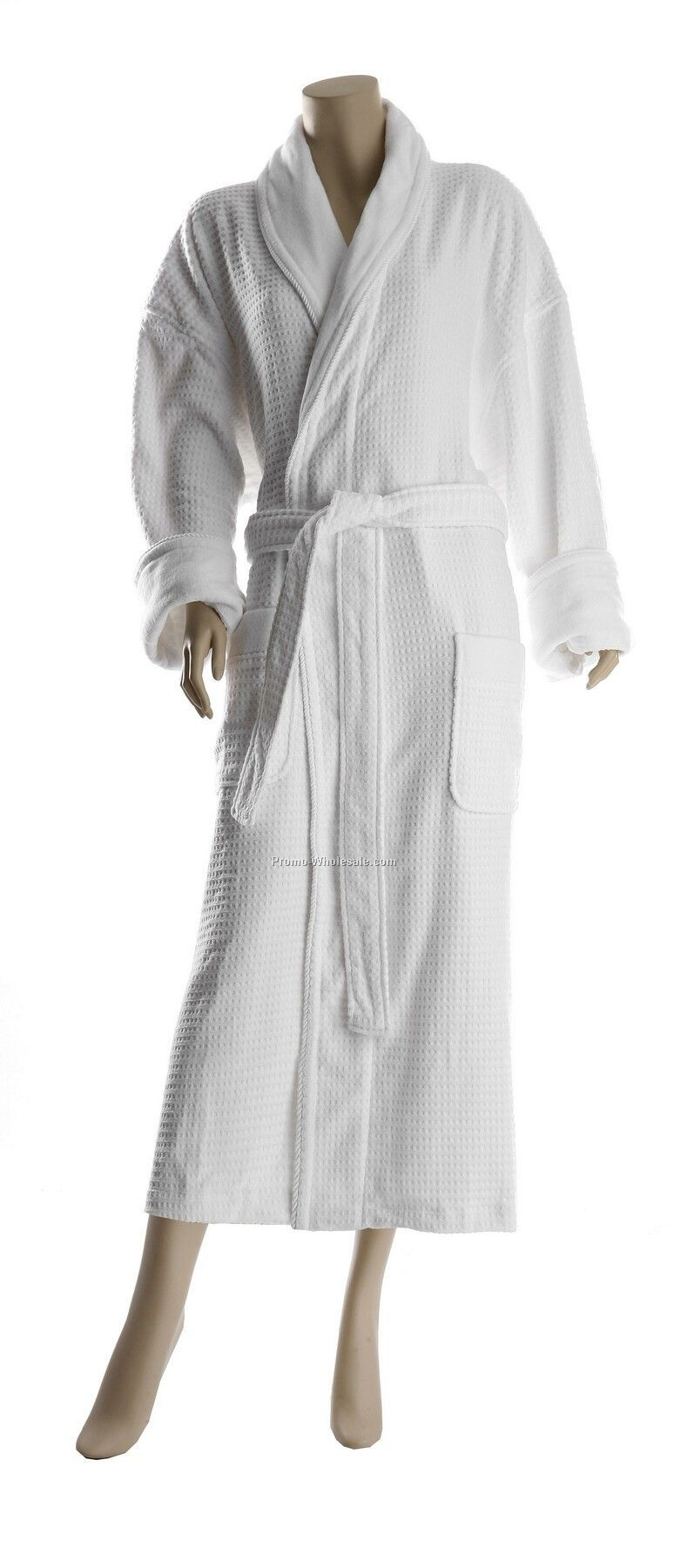 "50"" High Low Square Velour Hotel Shawl Collar Robe(Osfm)"