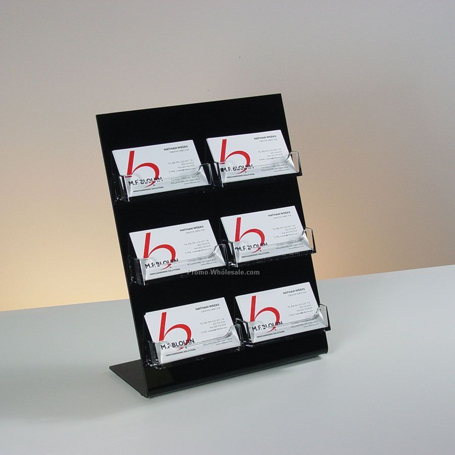 6-pocket Countertop Business Card Holder