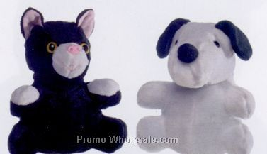 "7"" Reversible Cat / Dog Puppet"