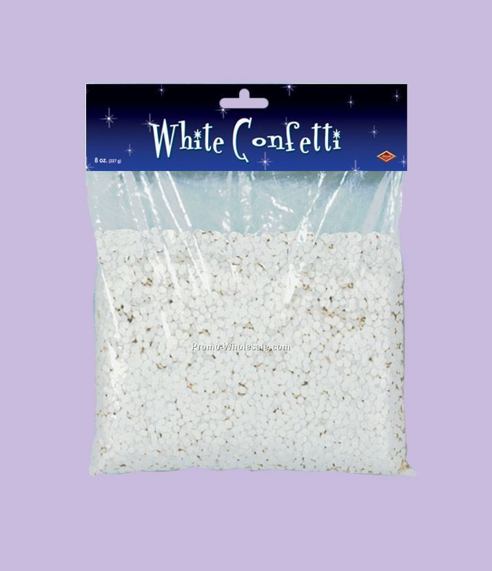 8 Oz. Packaged White Confetti