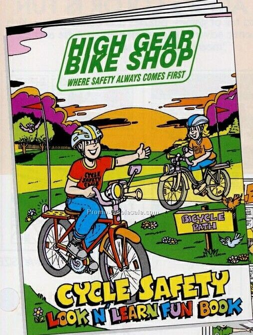 "8""x10-5/8"" 16 Page Coloring & Fun Book (Bicycle Safety)"