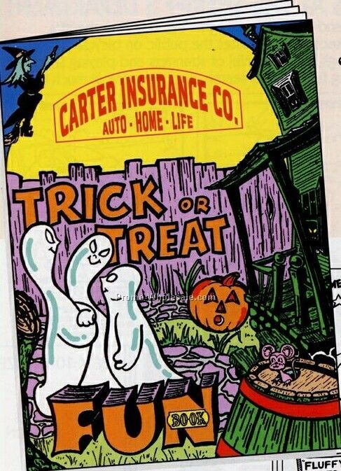 "8""x10-5/8"" 16 Page Coloring & Fun Book (Trick Or Treat)"