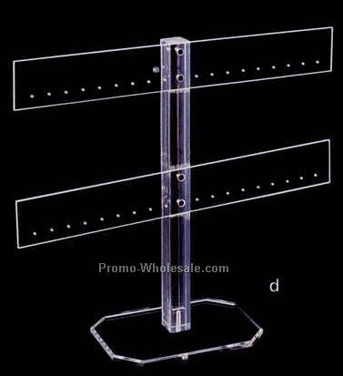 "Acrylic Earring/ Ornament T-bar Stand (15""x5""x13"")"
