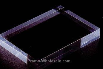 "Acrylic Specialty Base (Flat) 3/8""x8""x6"" - Clear"