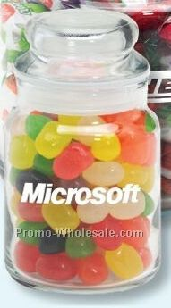 Assorted Jelly Beans 5 Oz. Round Glass Candy Jar