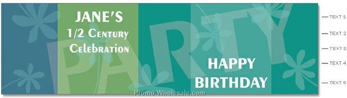 "Birthday Party Label - 2-1/8""x8.062"" Labels (Flower Power)"