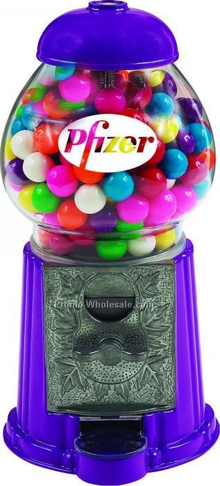"Blue 11"" Gumball / Candy Dispenser Machine"
