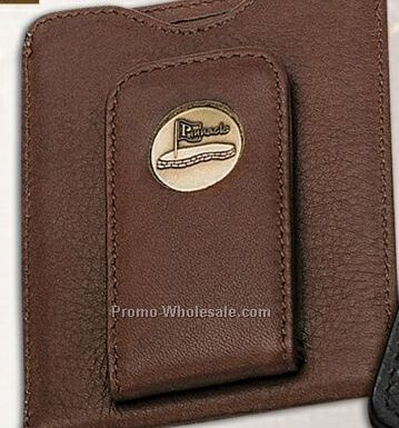 Credit Card Money Clip/ Tan Wallet W/ Laser Quick Insert