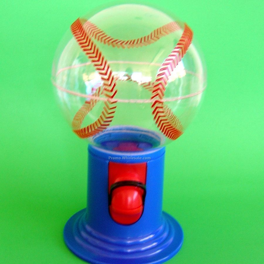 Candy Dispenser - Baseball - 1 Side / 1 Color Custom Imprint