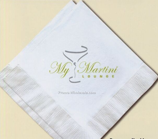 Custom Imprinted 1 Ply Beverage Napkins/ Limited Custom (2 Color)