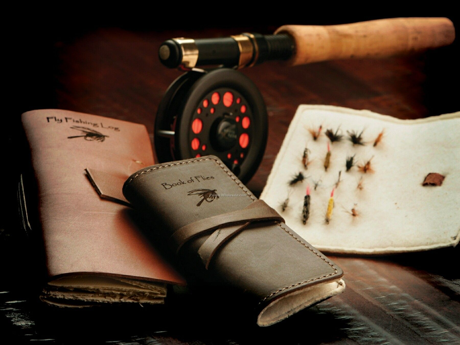 Fly Fishing Log Leather Journal