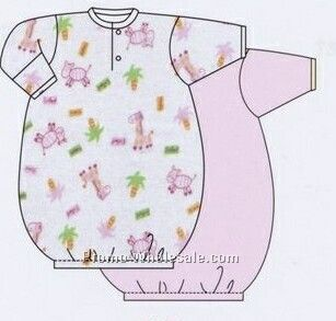 Girls Prints Infant Gown (Up To 12 Months)