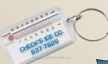 Handi Zip-temp Plastic Thermometer With Key Ring