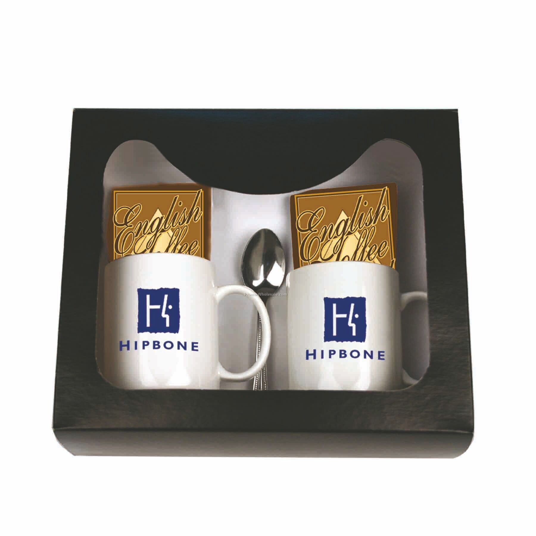 Hot Chocolate For 2 Gourmet Gift Set (English Truffle)