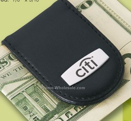 Madison Leather Money Clip W/ Photo Frame (Laser Engraved)