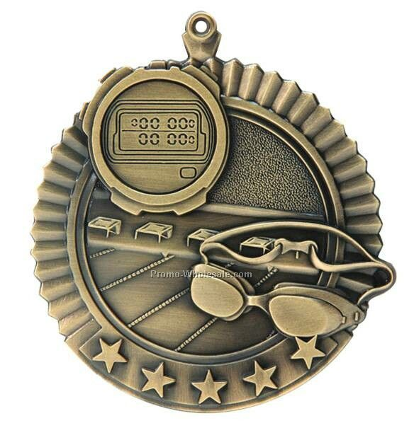 "Medal, ""swimming"" Star - 2-3/4"" Dia"
