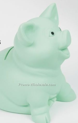 Mint Savers Sitting Mint Green Pig Bank