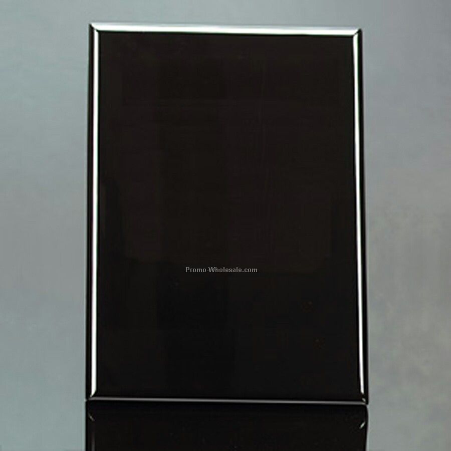 "Piano Finish Plaque With Built In Easel - Black 9""x 12""x 1"""
