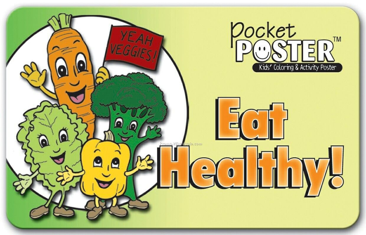 Pillowline Eat Healthy Pocket Poster