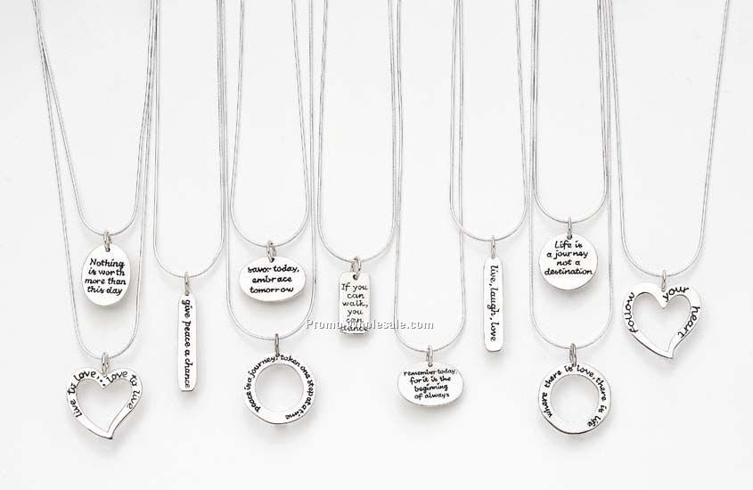 Plated silver pendant on snake chain with custom phrase or logo plated silver pendant on snake chain with custom phrase or logowholesale china mozeypictures Gallery