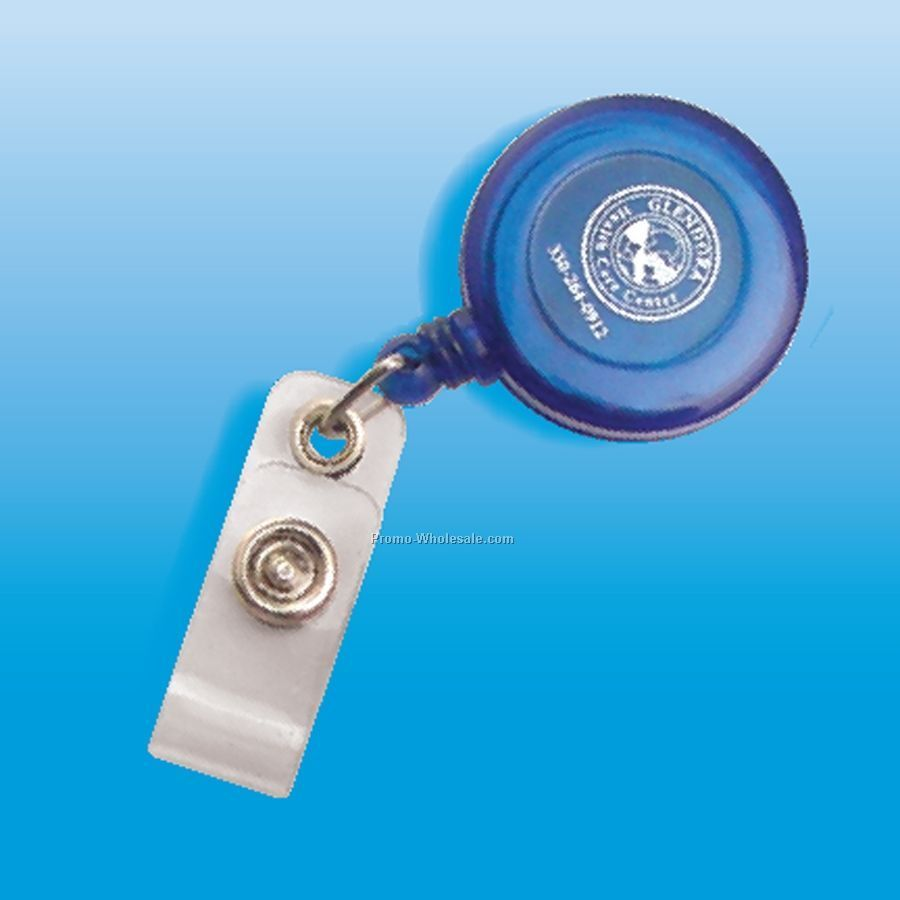 Round Badge Holder W/ Retractable Cord