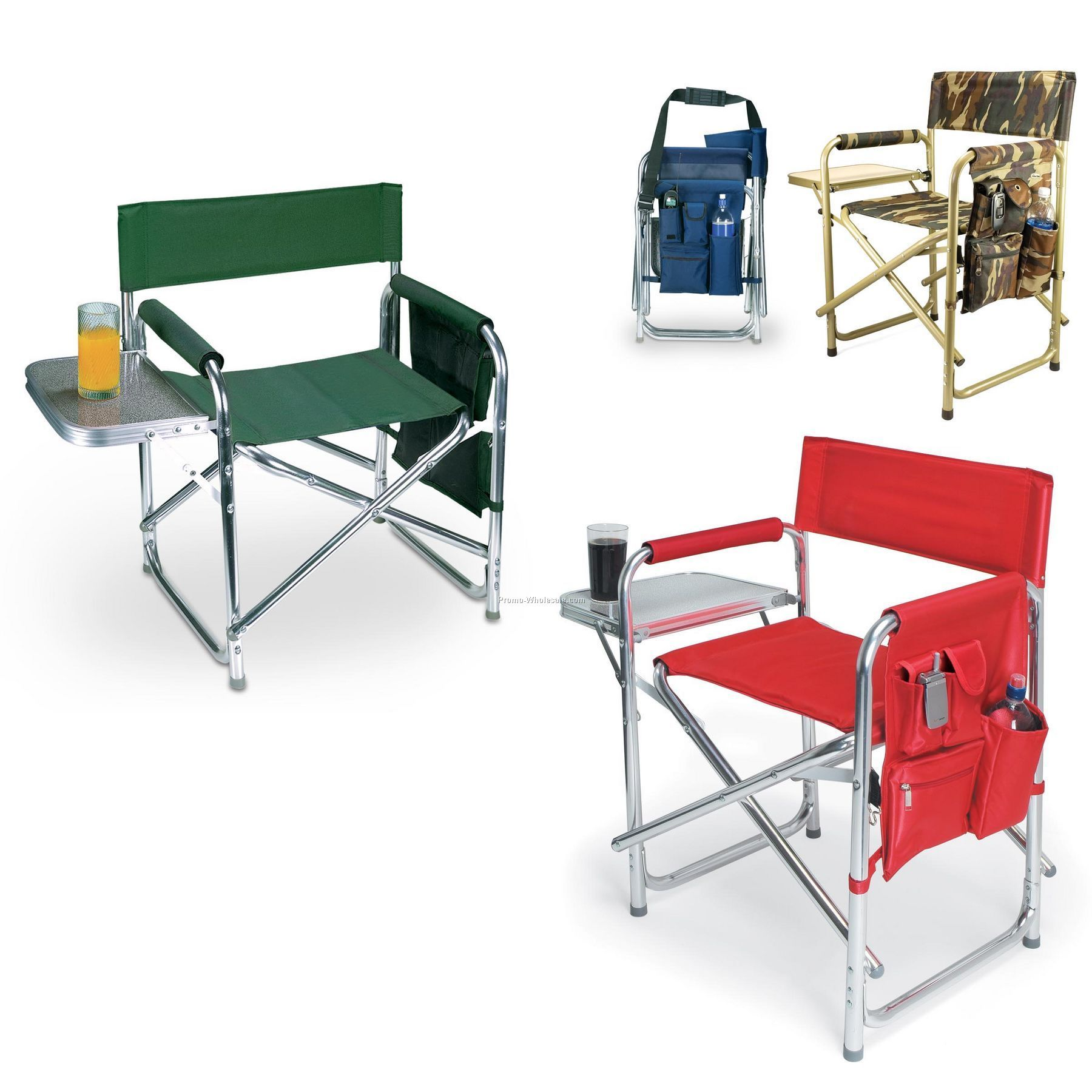 Sports Folding Chair With Fold Out Side Table Wholesale china