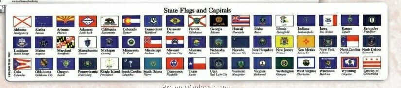 State Flags & Capitol Ruler (3 Day Service)
