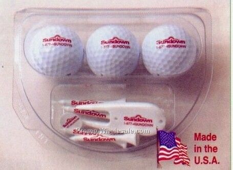 "Top Flite Xl Distance Clubhouse Gift Pack (2-3/4"" Tee)"