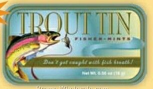 "Trout Tin ""don't Get Caught With Fish Breath!"" - Stock Design"